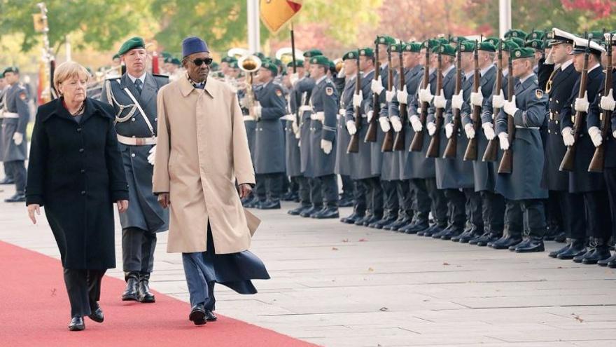 Muhammadu Buhari, y Angela Merkel, durante la visita oficial a Berlín del presidente nigeriano.