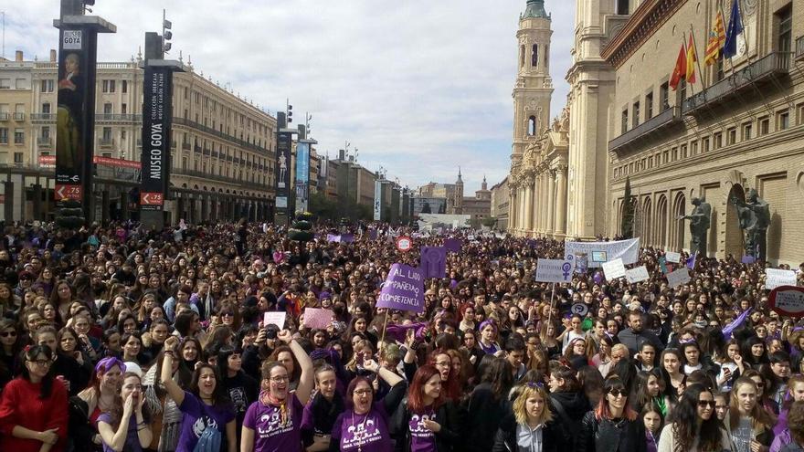 Manifestación en Zaragoza con motivo del 8M.