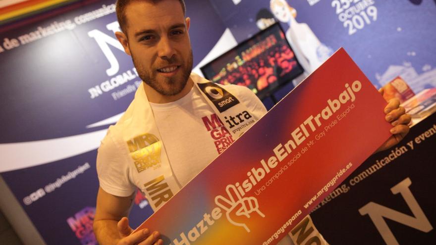 Andrés, durante la celebración de Mr Gay España 2018