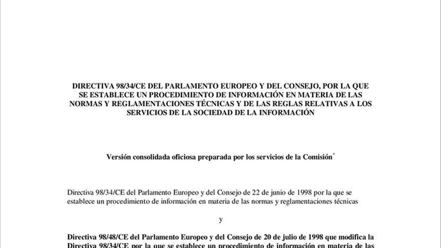 Directiva 98/34/CE