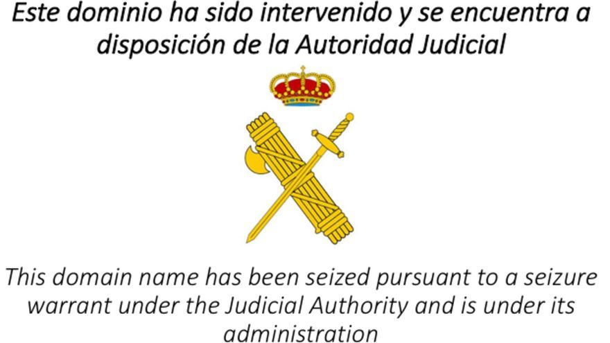 Nota de la Guardia Civil web