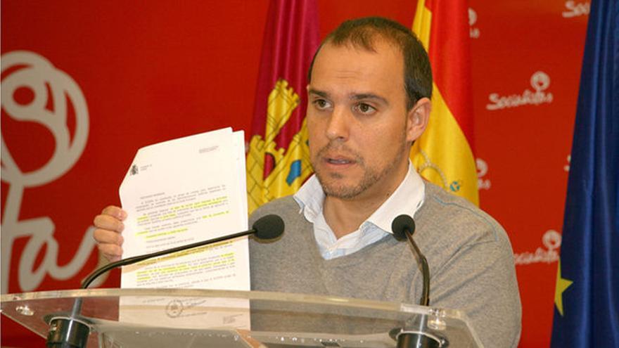 El secretario del PSOE de Guadalajara, Pablo Bellido