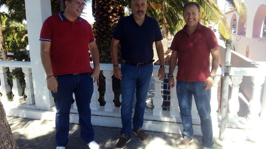 Andrés Carmona, Jorge González y Sergio Rodríguez.