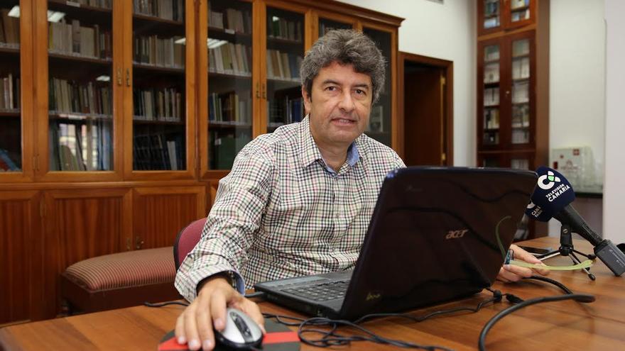 Vicente Mujica, portavoz de la Plataforma Demócratas para el Cambio. (ALEJANDRO RAMOS)
