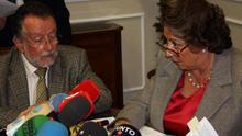 La alcaldesa de Valencia, Rita Barberá, junto al que ha sido su número dos, Alfonso Grau
