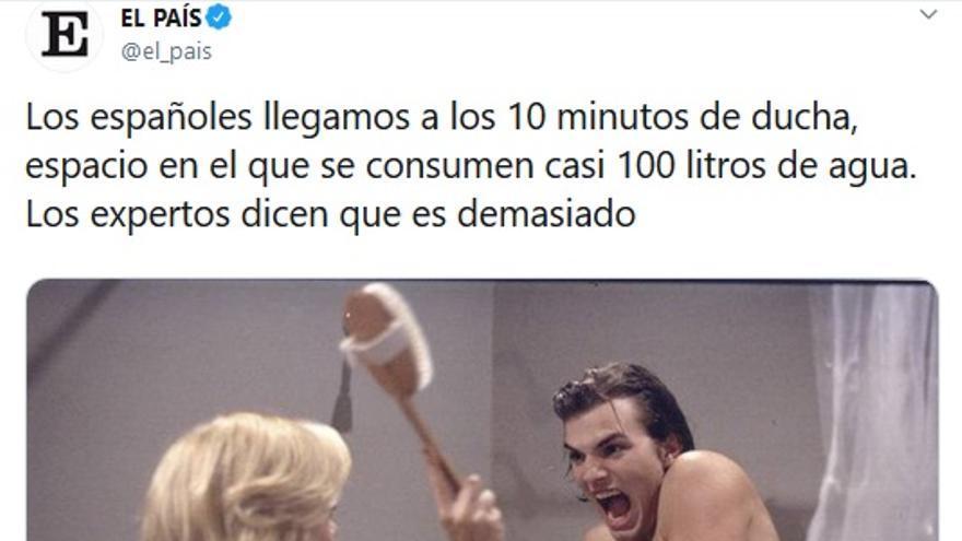 Minutos de ducha