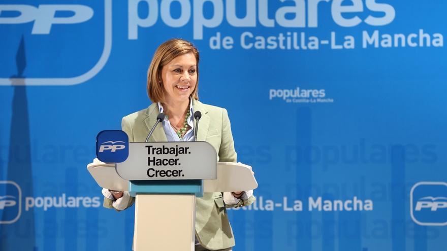 """Cospedal (PP) advierte de la """"carrera de oportunistas"""" que quieren """"atropellar la confianza de la gente"""""""