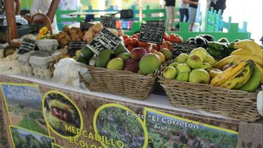 Productos de cultivos ecológicos. Foto: Gobierno de Canarias.