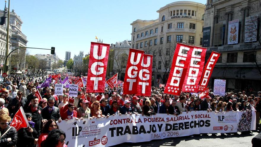 La manifestación del Primero de Mayo de 2016 en Madrid // Marta Jara