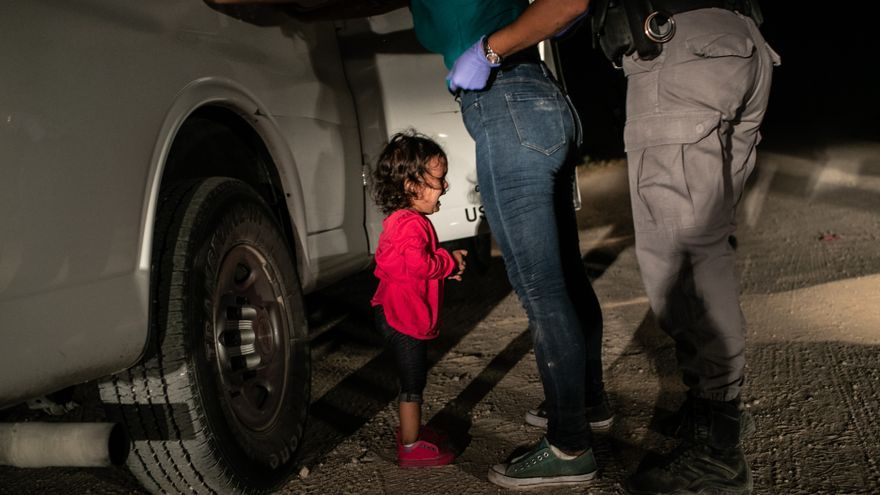 'Crying Girl on the Border'