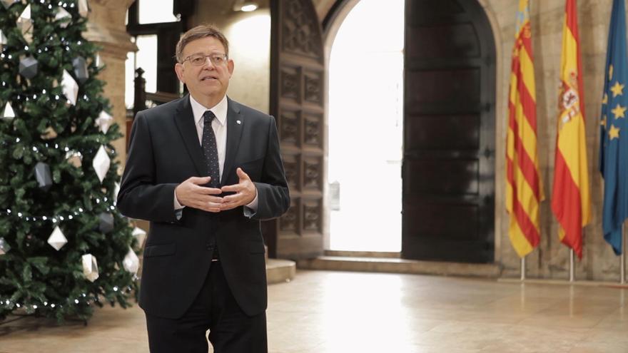 El president de la Generalitat, Ximo Puig, ha ofrecido su primer discurso como jefe del Consell