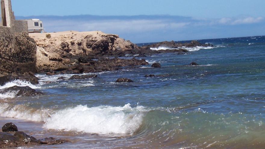 Punta de La Monja, en la playa del Cabrón