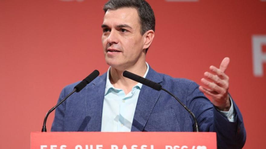 Pedro Sánchez, en un acto en Badalona.