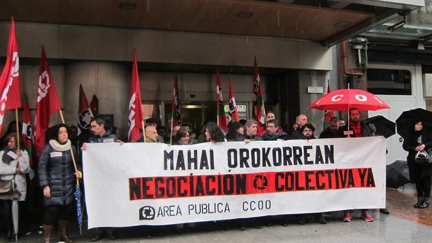 """CCOO Euskadi dice que con la actitud del Gobierno vasco en algunas mesas de negociación """"el conflicto parece inevitable"""""""