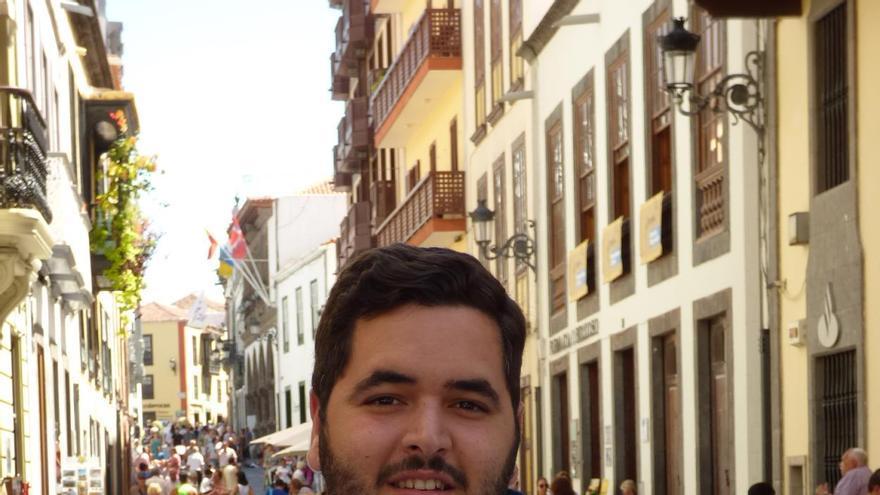 Alejandro Sánchez,  portavoz de Nuevas Generaciones del PP de La Palma.