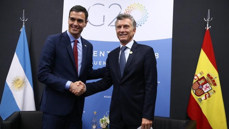 Sánchez asistirá al partido de River-Boca en el Bernabéu al que también se espera que acuda Macri