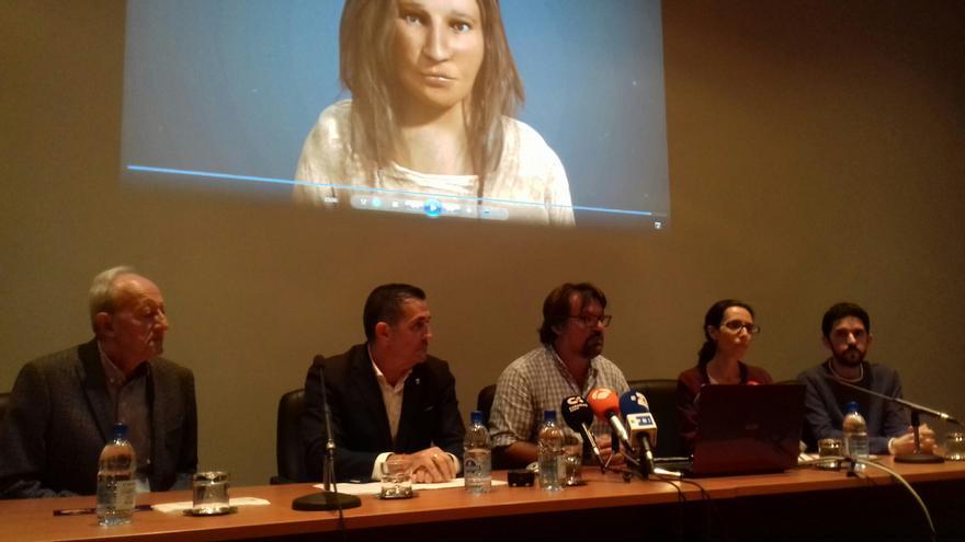 Imagen de la presentación de los trabajos forenses.