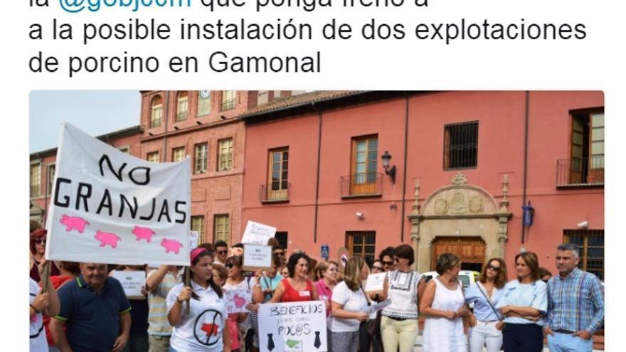 El alcalde de Talavera ha apoyado la concentración en las redes sociales