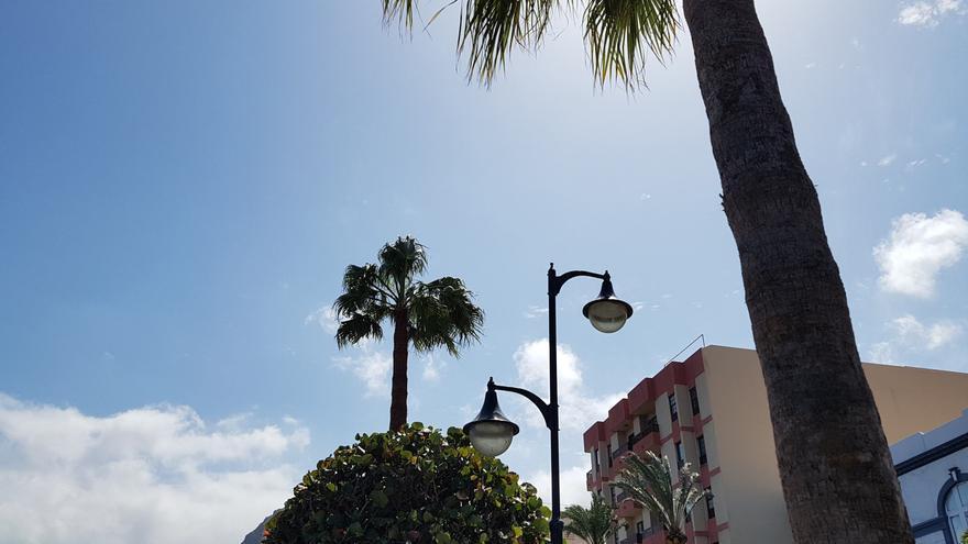 Cielo casi despejado en La Palma