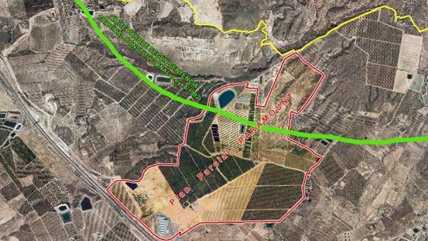 Zona en la que está previsto el parque temático Paramount