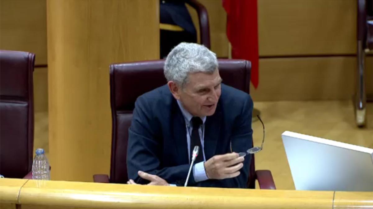José Manuel Pérez Tornero en el Senado