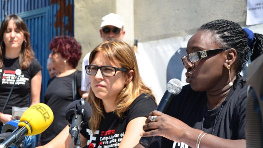 Ana Fornés, portavoz del movimiento CIEsNO, en rueda de prensa