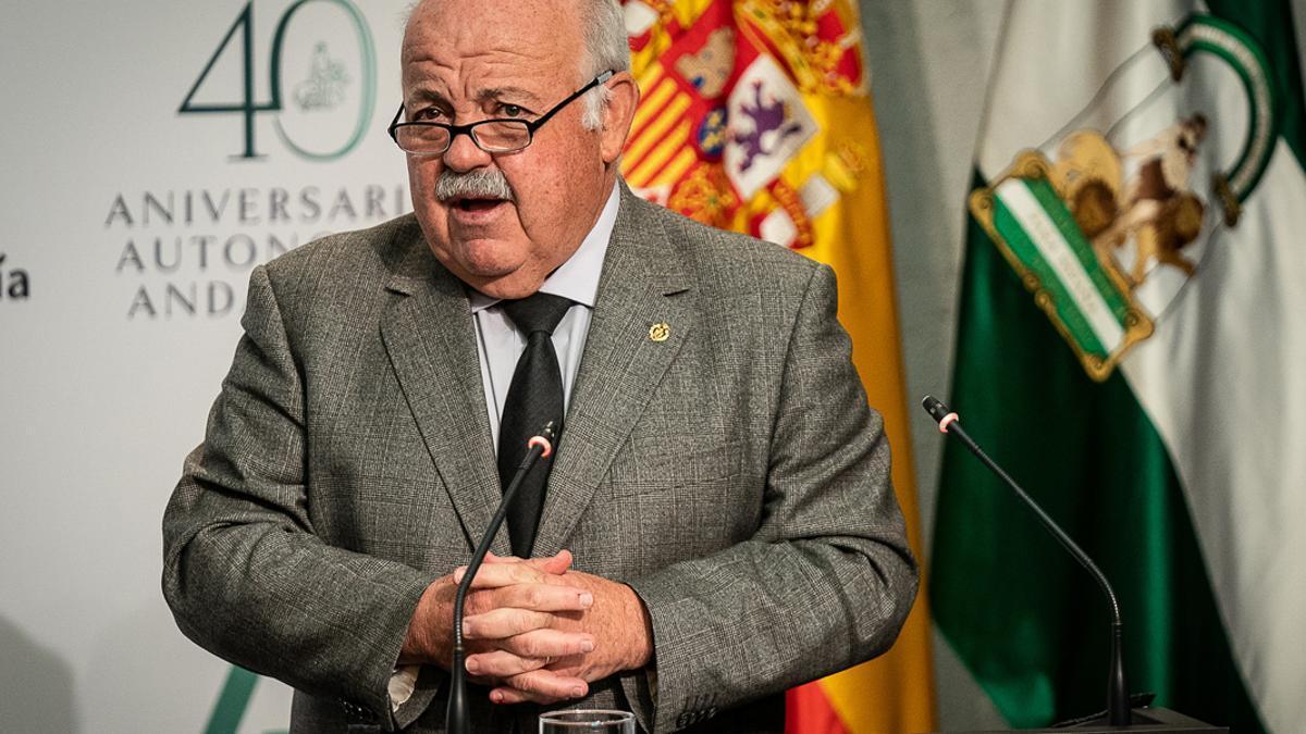 El consejero Jesús Aguirre.