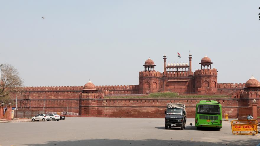 El Fuerte Rojo en Delhi (India) cerrado al público como medida de precaución frente al coronavirus