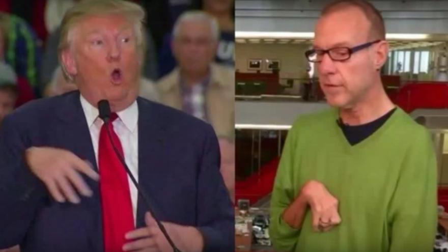 Donald Trump burlándose del periodista Serge Kovaleski
