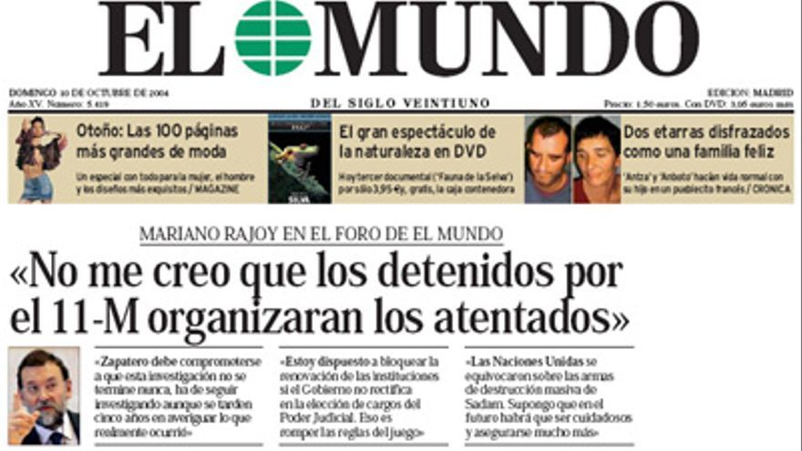 En octubre de 2004, Rajoy colaboraba con la conspiración.