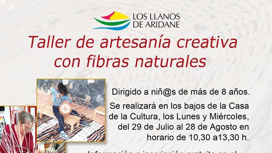 Cartel del taller infantil organizado por el Ayuntamiento de Los Llanos de Aridane.