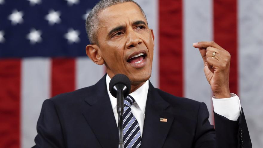 Barack Obama, durante su Discurso sobre el Estado de la Unión.