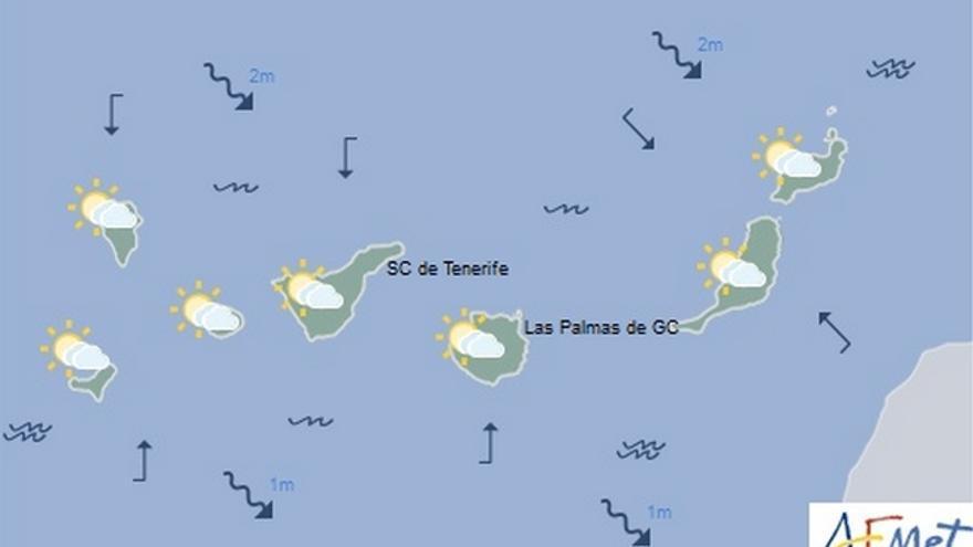 Mapa de la previsión meteorológica para el sábado 15 de octubre