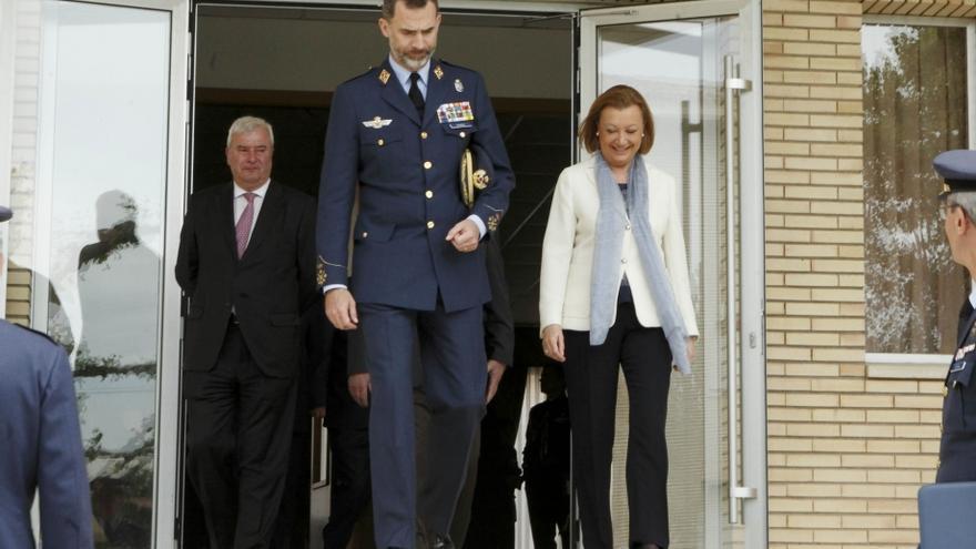 Rudi ha acompañado esta mañana al Rey en su visita a la Base Aérea de Zaragoza. Foto: Gobierno de Aragón