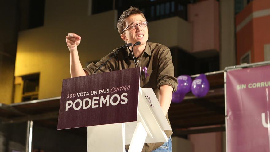 Íñigo Errejón en el acto de Podemos en Gran Canaria (ALEJANDO RAMOS)