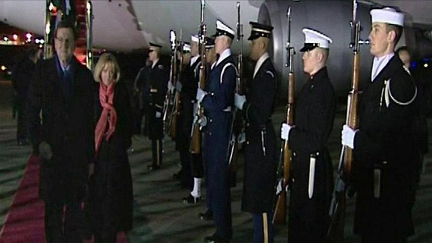 Rajoy honra a los soldados caídos por EEUU en su primer acto en Washington
