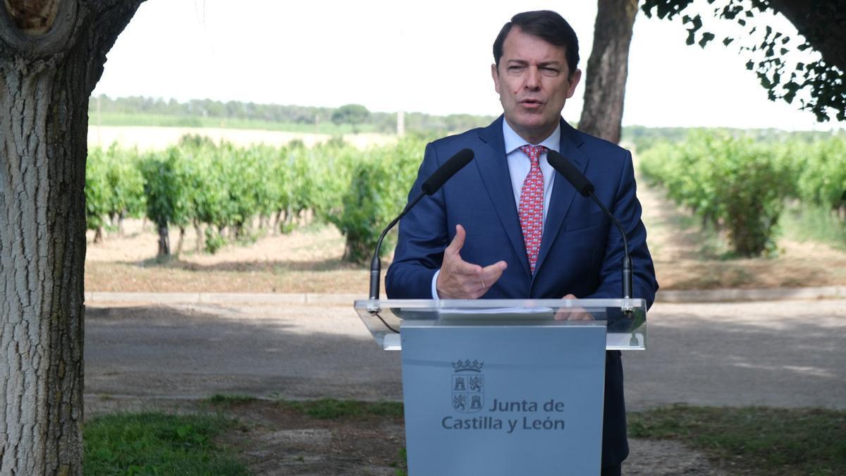 Alfonso Fernández Mañueco, en Aranda de Duero (Burgos).
