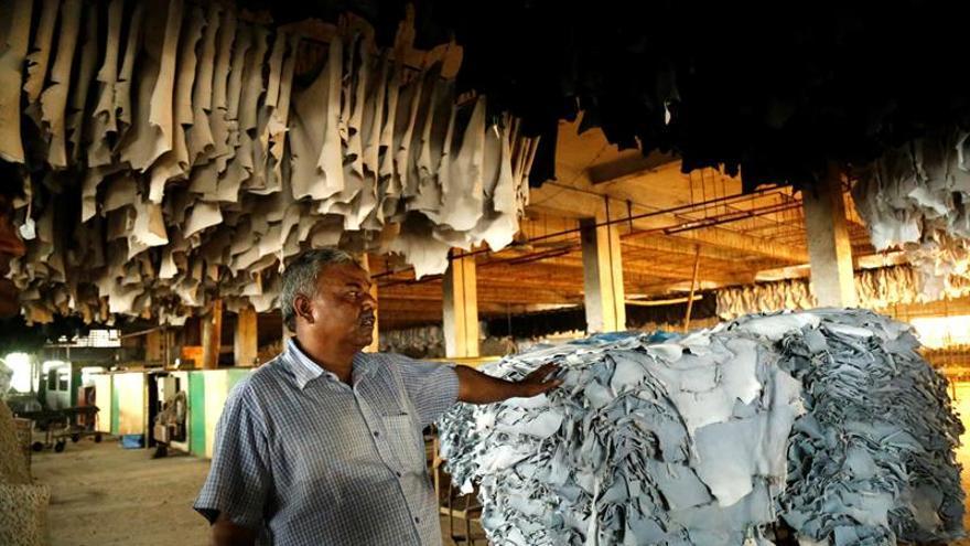 Miles de trabajadores del cuero protestan en Dacca por el traslado de las curtidurias