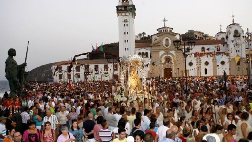 Imagen con un acto de la festividad de la virgen de Candelaria, en una edición pasada