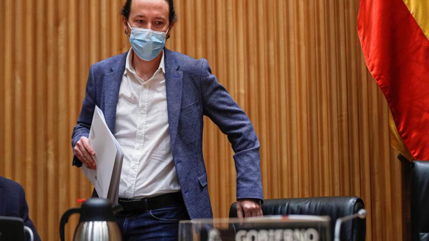 El vicepresidente de Derechos Sociales, Pablo Iglesias, cuyo ministerio ha solicitado al de Cultura que acabe con la práctica de los toreros con enanismo.