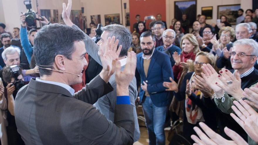 El secretario general del PSOE, Pedro Sánchez en la asamblea celebrada en Toledo