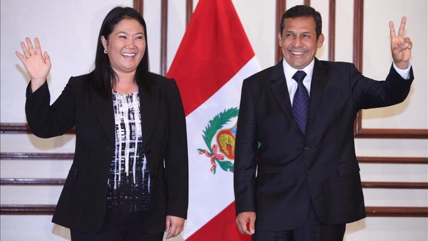 Keiko Fujimori pide reunirse con Humala para bajar la tensión política