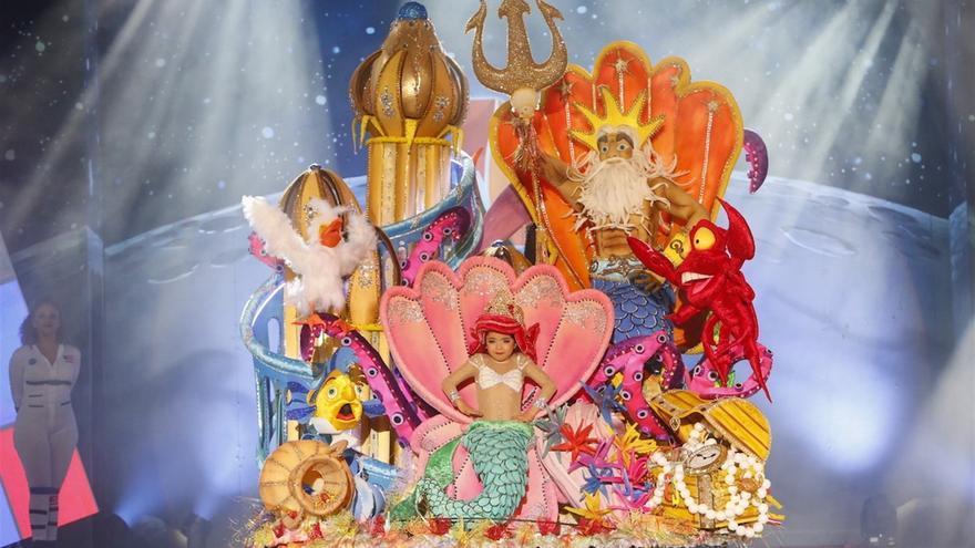 La 'sirenita' Jennifer De Filippis, nueva Reina Infantil del Carnaval de Maspalomas