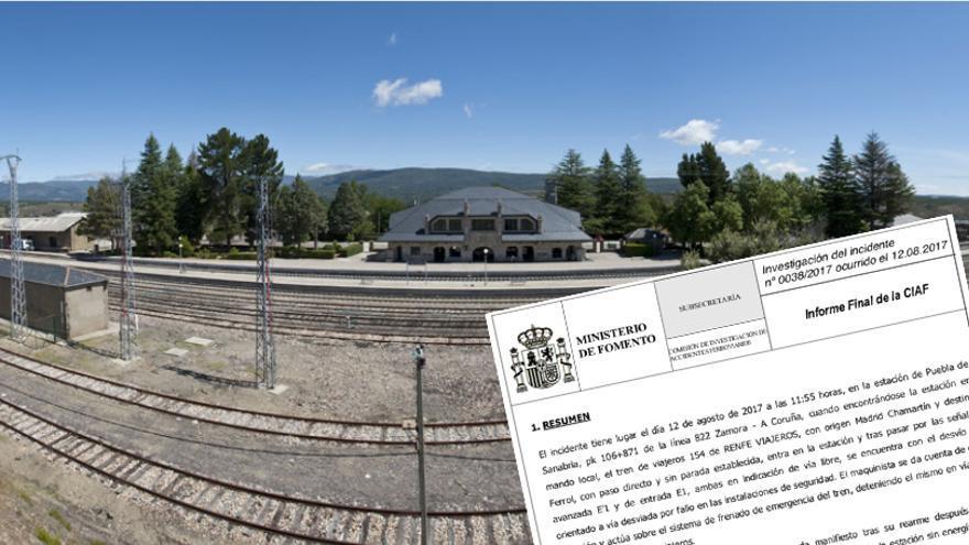 Estación de Puebla de Sanabria e investigación del incidente