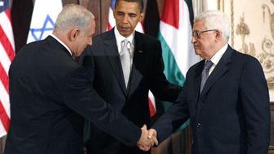 Obama, Netanyahu y Abbas