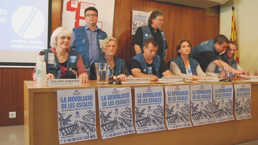 Candidatos municipales de Barcelona, Badalona y Cornellà se solidarizan con los huelguistas de Movistar