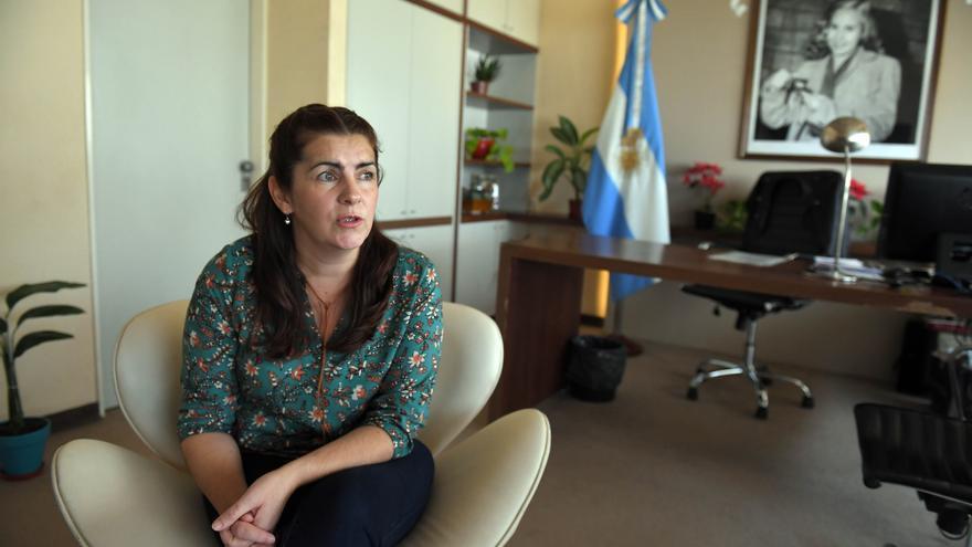 La intendenta de Moreno, Mariel Fernández