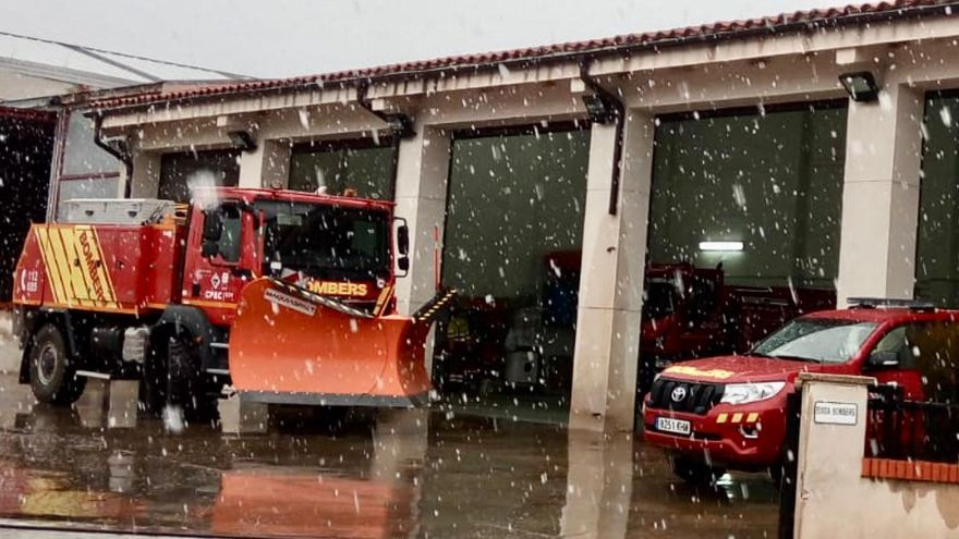 Los bomberos de Castellón se preparan para atender los efectos de la borrasca 'Gloria'.
