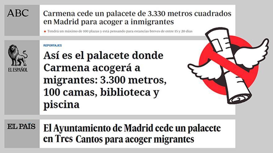 No, la alcaldesa Manuela Carmena no acogerá a migrantes en un palacete.
