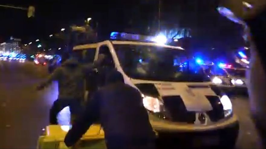 Disturbios tras el 22M